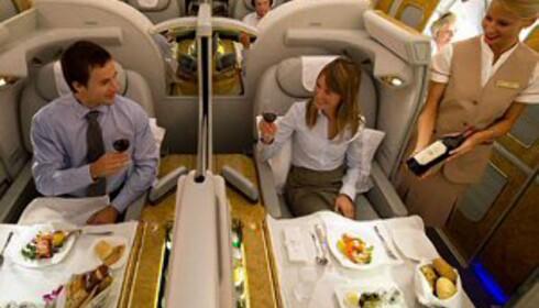 Luksusen på førsteklasse er forbeholdt de med mye penger.