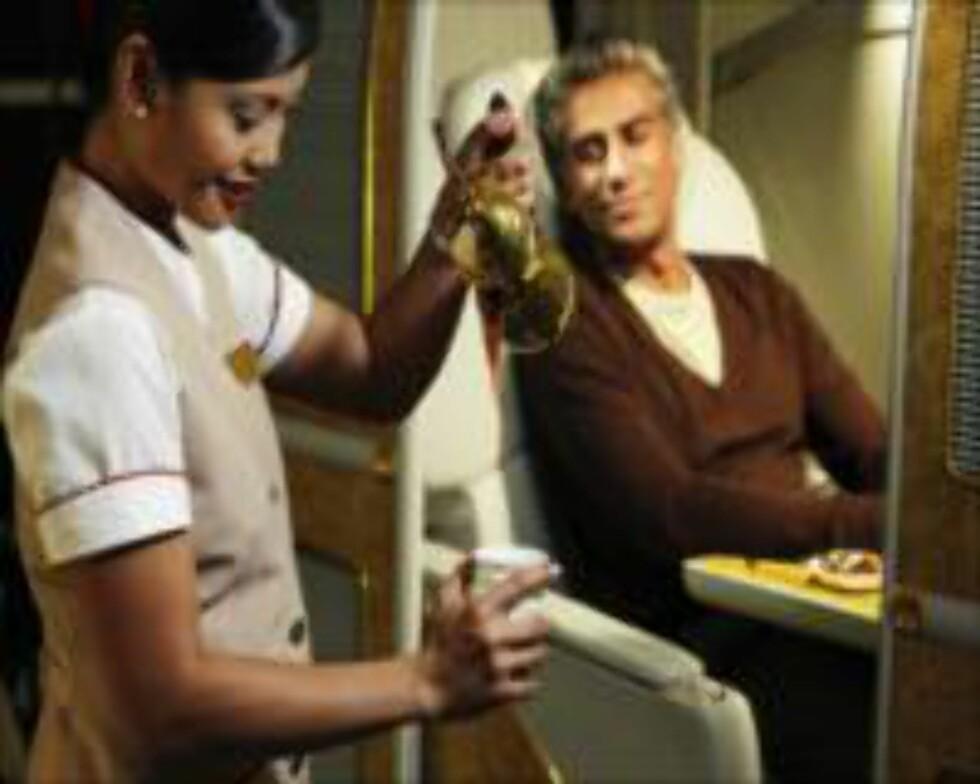Diskret service er Emirates' varemerke. Foto: Emirates