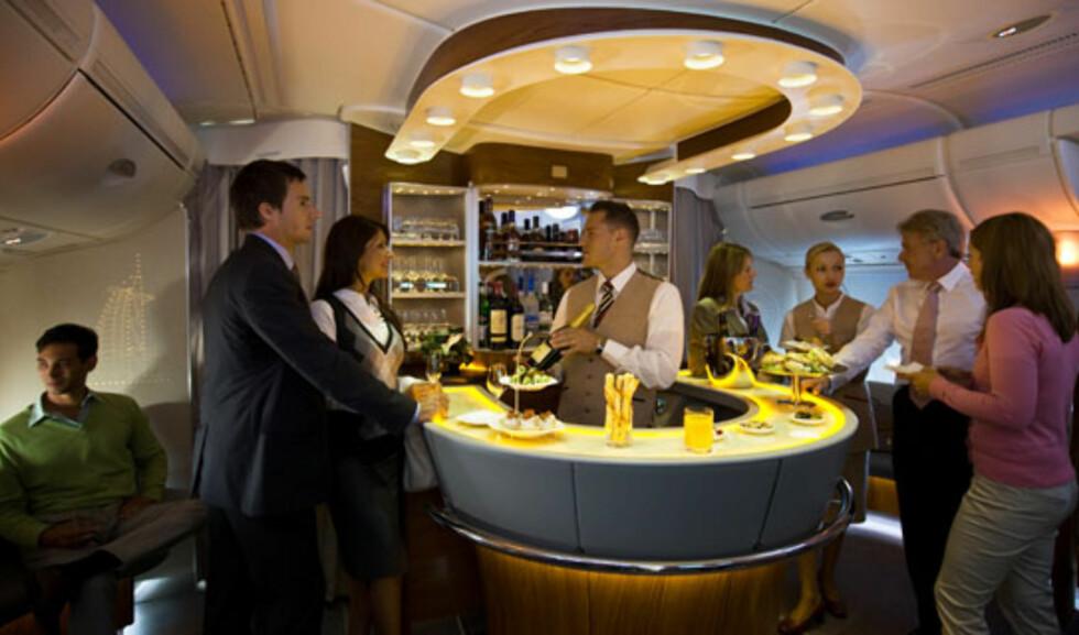 Både business- og førsteklassepassasjerer har tilgang til loungen. Foto: Emirates