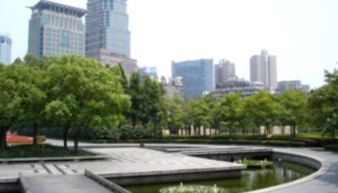 En park i midten av Shanghai. Foto: Wikipedia