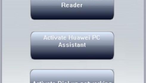 Menyen som dukker opp når du kobler telefonen til PC er ikke chessifisert, men den fungerer greit.