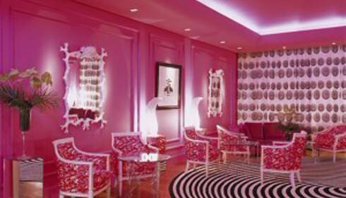 I den rosa salongen er det en del å feste blikket på. Foto: The g hotel