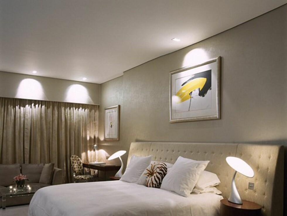 Rommene er store og innredet med sjampanjefargen som hovedtrekk.  Foto: The g hotel