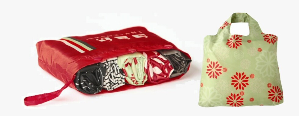 Mikado handlenett i friske farger. En pakke med fem nett koster 299 kroner fra Hippo.