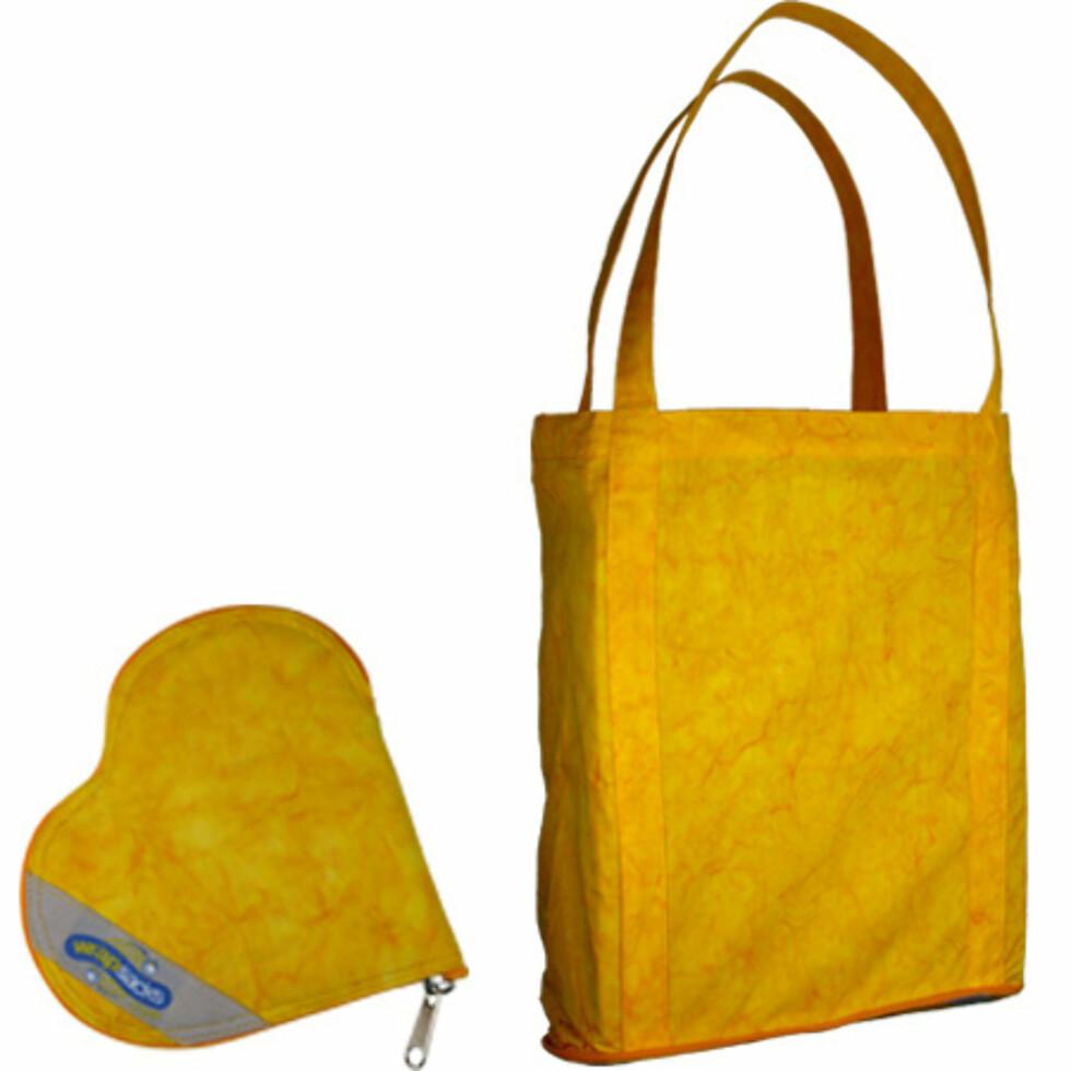 Wrapsacks med hjerteformet etui til 98 kroner på rettinett.no. Foto: Wrapsacks