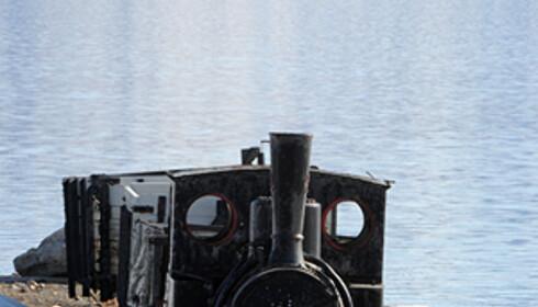 Den gamle jernbanen etter gruverdriften er verdens nordligste, som alt annet i Ny-Ålesund.
