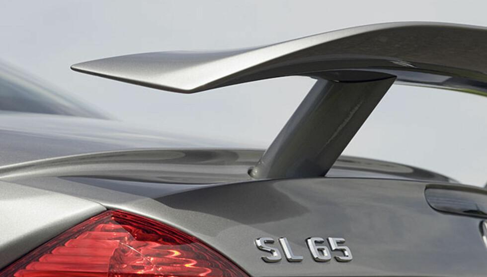 Detalj- og interiørbilder av SL 65 AMG Black Series