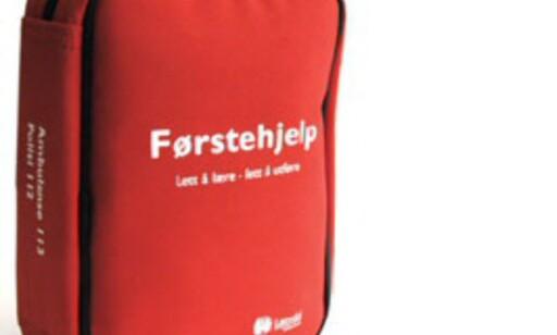 De fem flittigste rapportørene i juli får hver sin førstehjelpspute. Foto: Apotek1