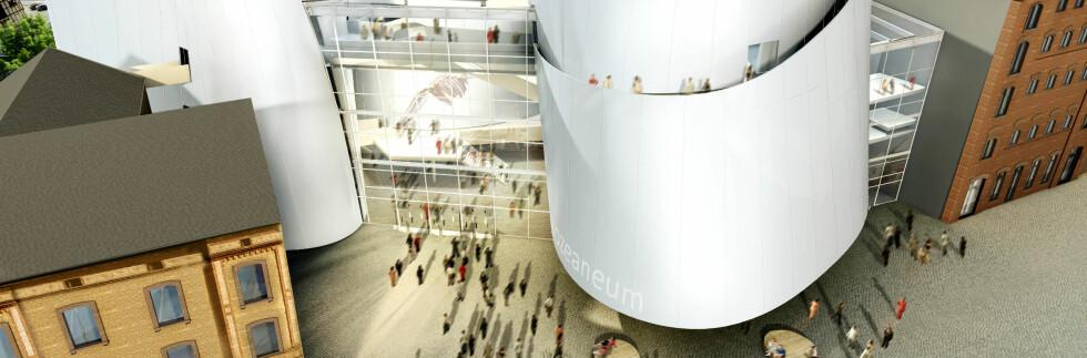 Inngangen til gigantakvariet. Illustrasjon: ozeaneum.de