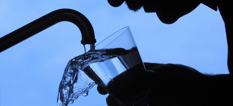 Kroppen vår består av mellom 55 og 78 prosent vann og rundt 20 prosent av vanninntaket vårt kommer fra mat. Foto: Colourbox.com
