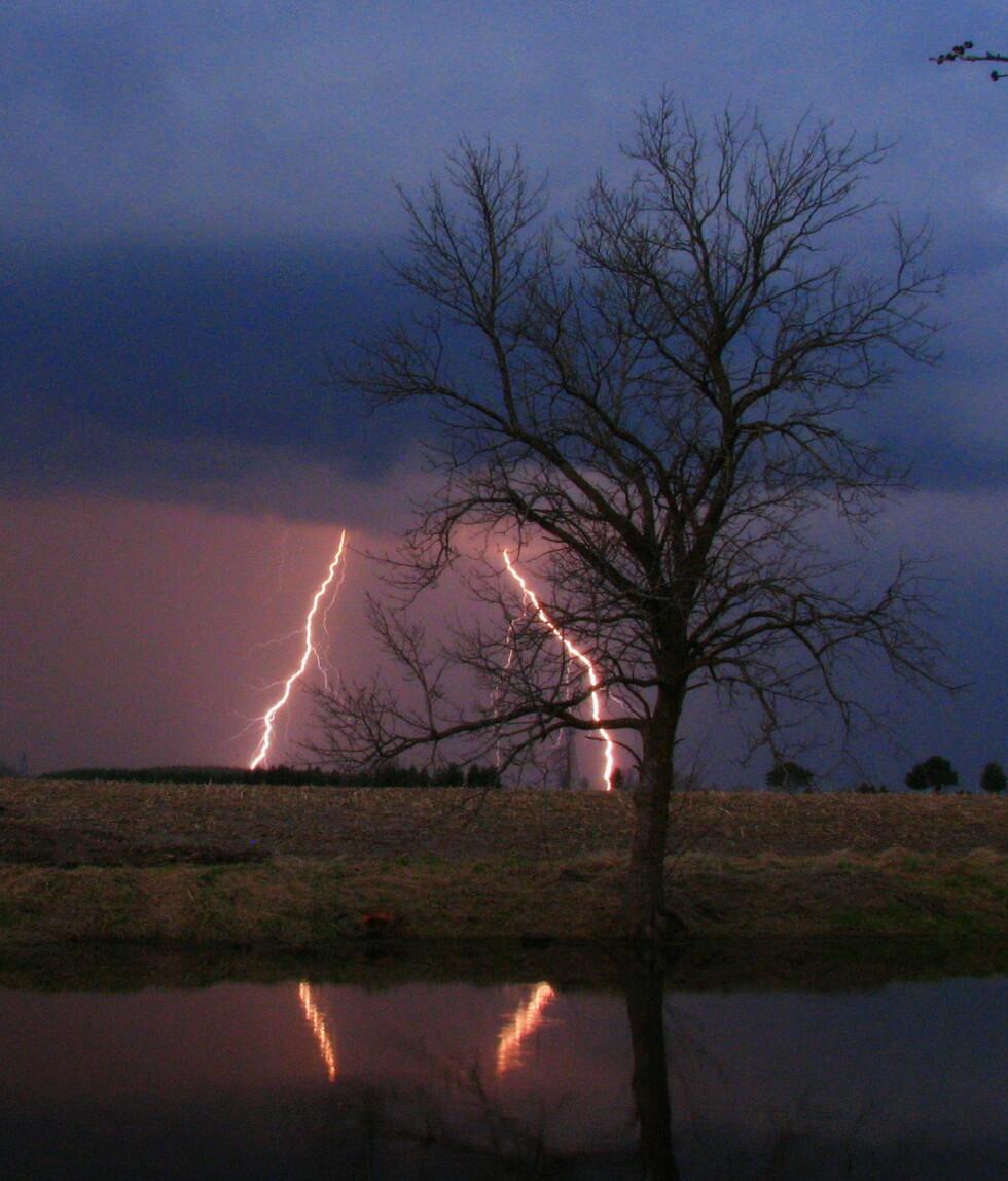 Ved å telle sekund mellom lynblinket og tordenbraket og dele på tre, kan du anslå avstanden til lynet i kilometer. Illustrasjonsfoto: Bill Ault