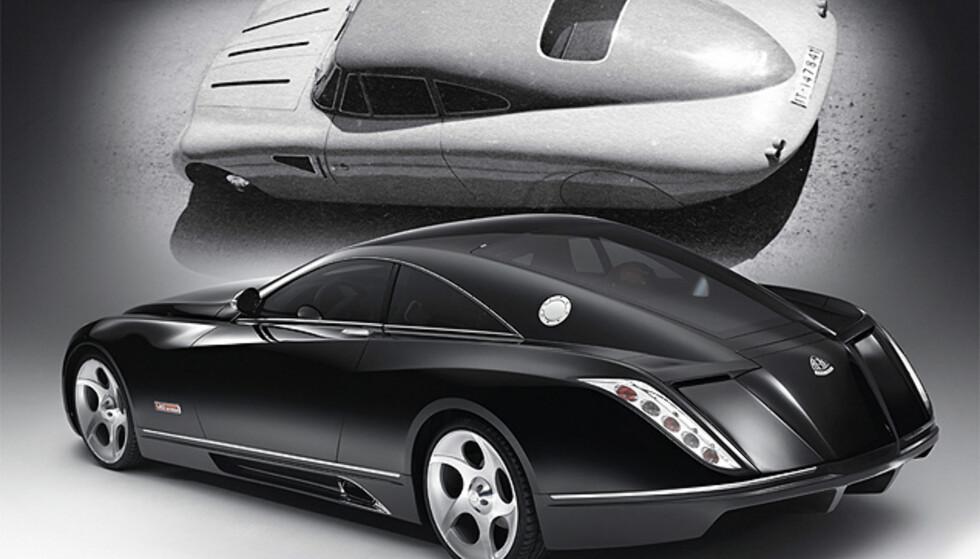 Klassikeren fra 30-tallet øverst Foto: Daimler