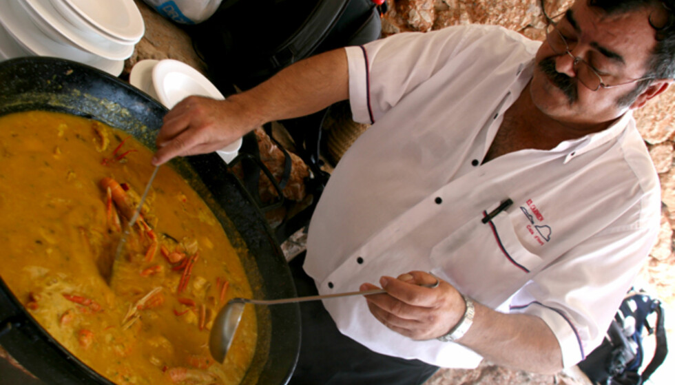 En deilig blanding mellom paella og fiskesuppe. Foto: Kim Jansson