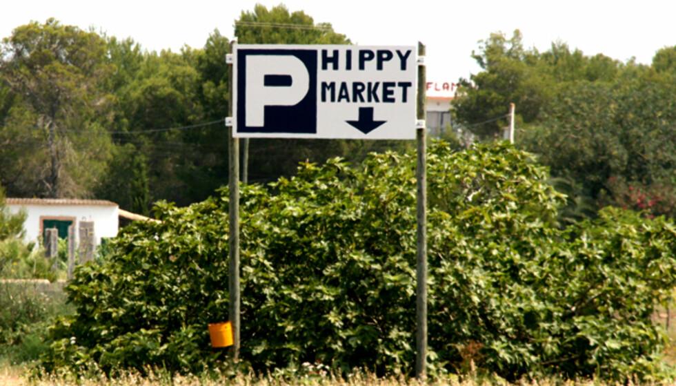 Hippiemarkeder finnes overalt på øya. Dette er nok ikke en av de mest kjente. Foto: Kim Jansson