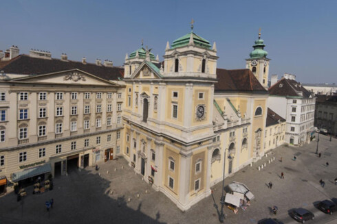 Klosteret ligger midt i Wien, så her har du muligheten til å oppleve både hektisk byliv og rolig tilbaketrukkethet. Foto: schottenstift.at Foto: schottenstift.at