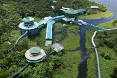 Hotellkomplekset sett fra luften. <i>Foto: ariauamazontowers.com</i> Foto: ariauamazontowers.com