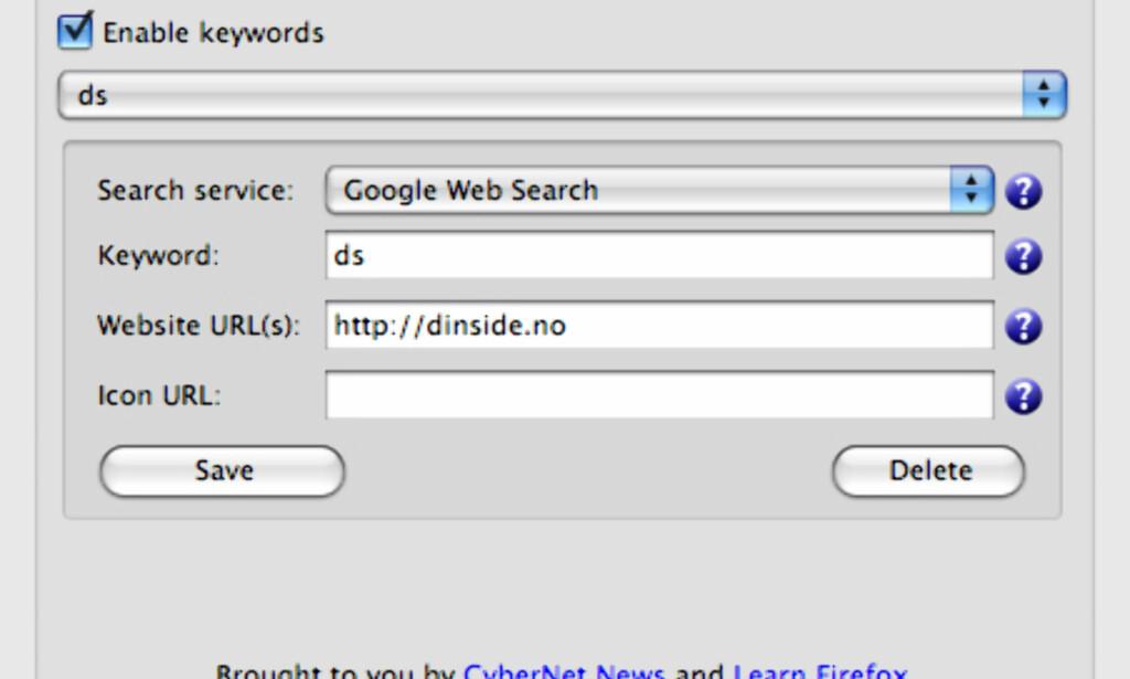 image: Supersmart søk i Firefox