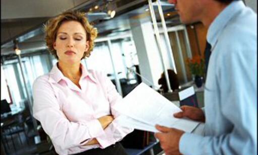 Et godt inntrykk på jobbintervjuet er viktig. Denne karen har nok mislykkes. Foto: Colourbox Foto: Colourbox