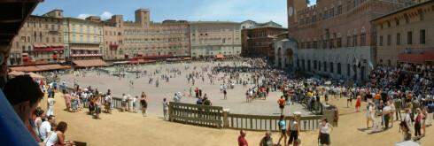 Piazza del Campo, hvor hesteveddeløpet Il Palio avholdes to ganger i året. Foto: Paul Fris Foto: Paul Fris