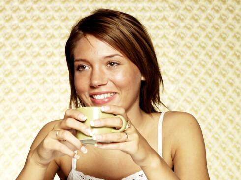 Mange kvinner foretrekker en stor kaffe latte. FOTO: Colourbox.com
