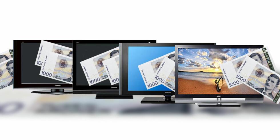 Pristest på flat-TV: spar over 5.000 kroner