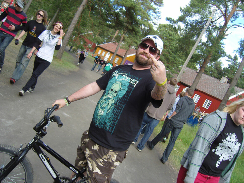 Asbjørn Slettemark foretrakk sykkel som transportmiddel. Foto: Thomas Marynowski