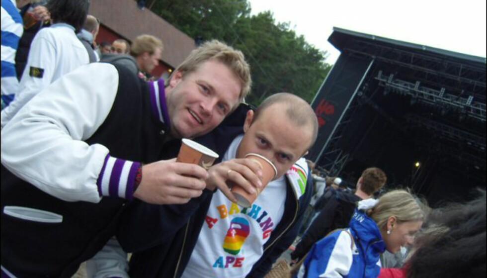 Chris Welsh og Patski Love fra det legendariske klubbkonseptet Juicy var i strålende humør. Foto: Thomas Marynowski