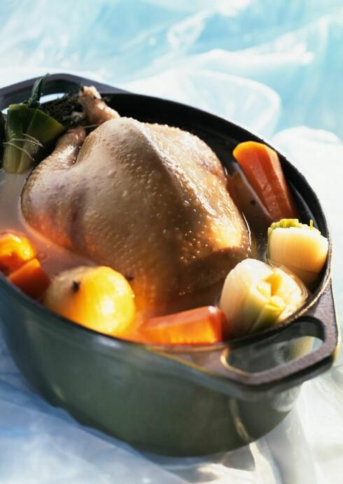 Kylling er en vanlig kilde til salmonella.  Foto: colourbox.com