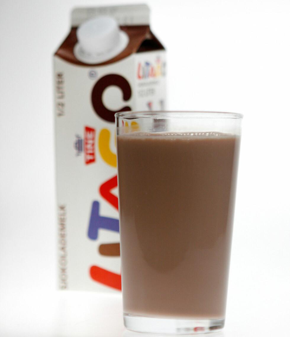 Et glass sjokomelk, ca 2,5 desiliter. Alle foto: Per Ervland