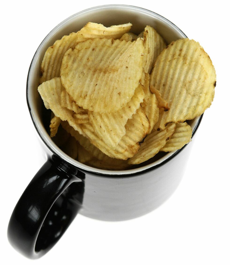 En stor kopp potetgull.