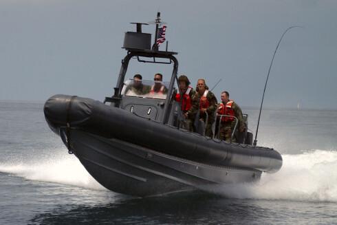 En militær-RIB i full fart. Foto: wikipedia.com Foto: U.S. Navy