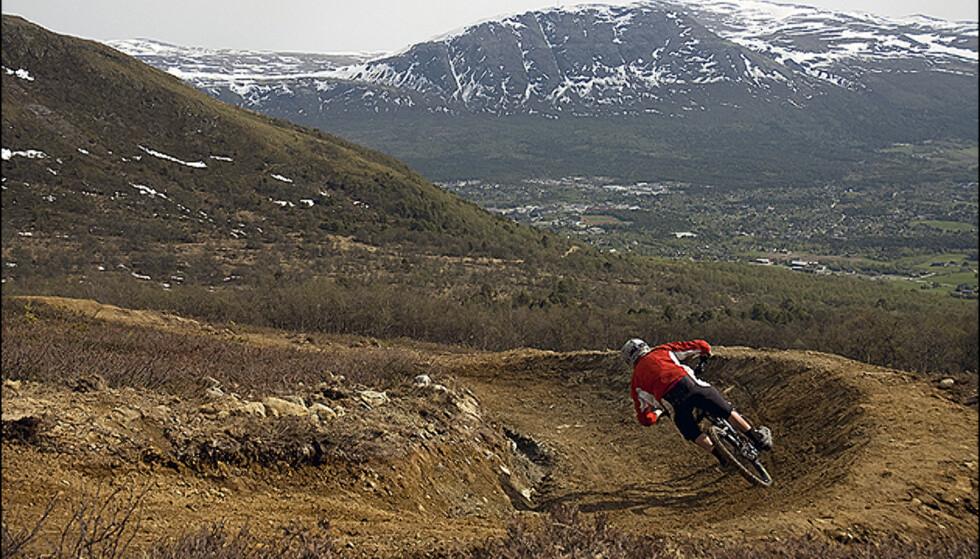 Fra Oppdal Bike park. Foto: Martin Dalen/kjører: Håkon Mæhle