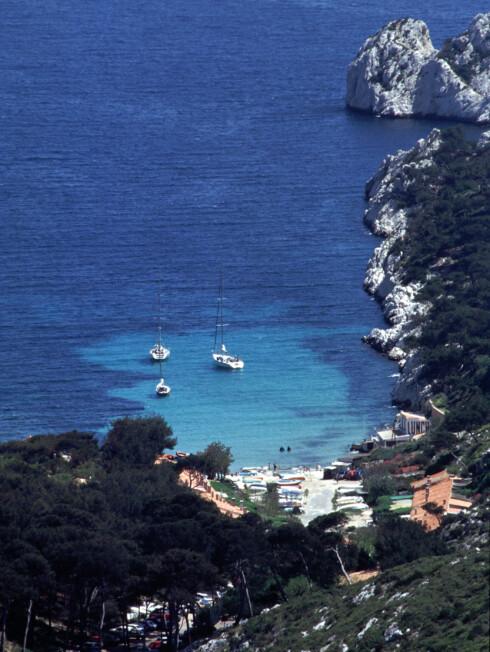 Calanques-klippene. Foto: Marseille Tourist Office Foto: Foto: Marseille Tourist Office