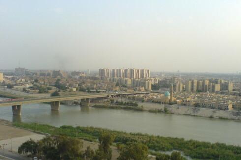 Utsikt mot Tigris. Dette ser nesten idyllisk ut - men skinnet kan bedra. Foto: wikipedia.com Foto: wikipedia.com