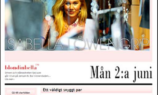 Tjener hun penger på å reklamere for bloggen sin eller ikke? Og hvis hun har inntekter så strider bloggen mot loven, mener svenske myndigheer.  FAKSIMILE FRA BLONDINBELLA.COM