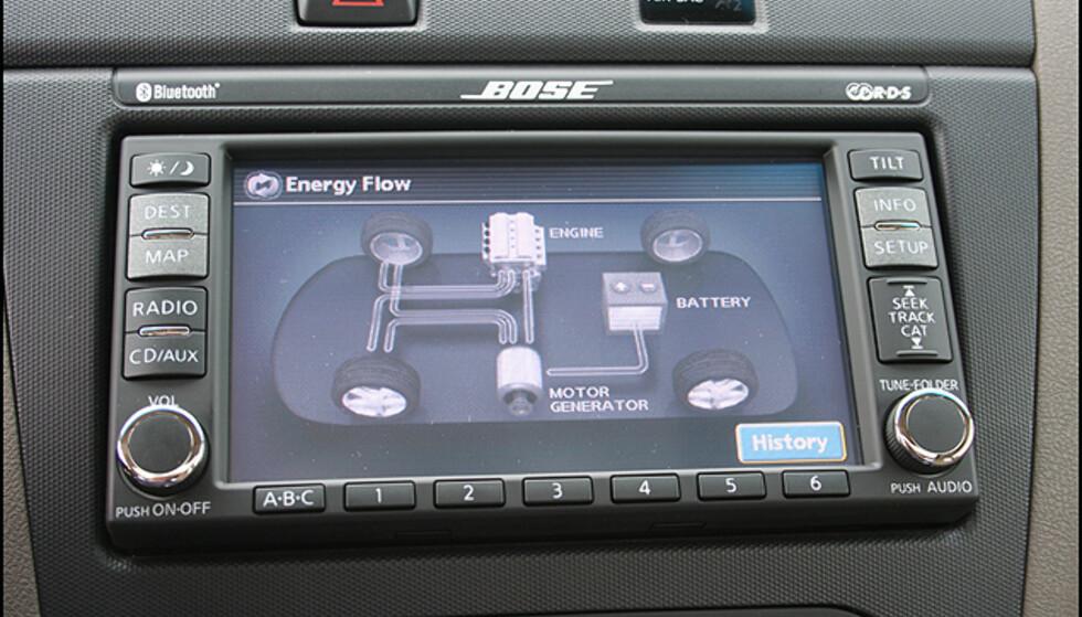 Energiflyt-monitor i Altima Hybrid