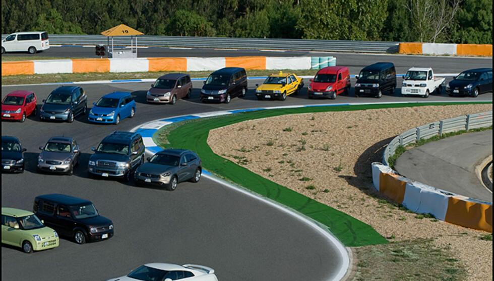 Overblikk over noen av Nissan-produktene på Estoril ved Lisboa (del 2)