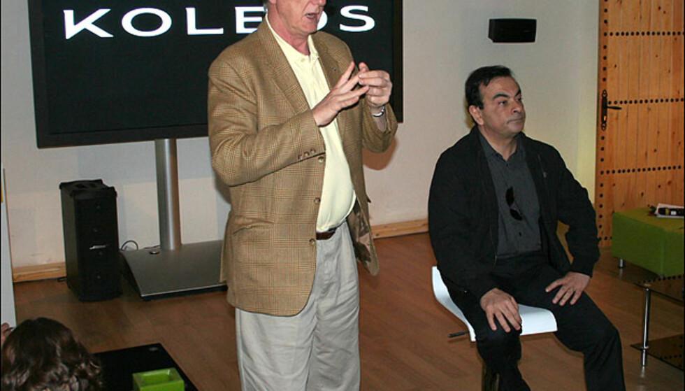 Under lanseringen fikk vi prate med både Renaults nordiske sjef, Alain Margaritopol, og selveste toppsjefen for Renault-gruppen (og Nissan), Carlos Ghosn (t.h.)
