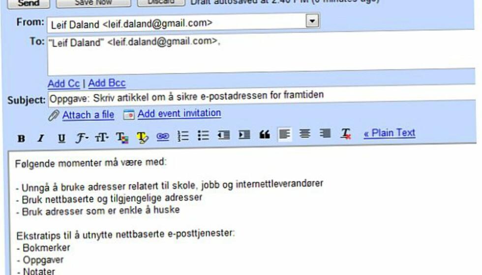Slik sikrer du e-postadressen