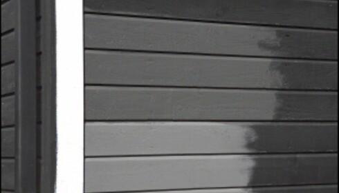 Før du velger malings<b>farge</b> kan det være lurt å male noen prøveplanker for å se hvordan malingen faktisk ser ut på ditt hus. <i>Illustrasjonsfoto: ifi.no</i> Foto: IFI