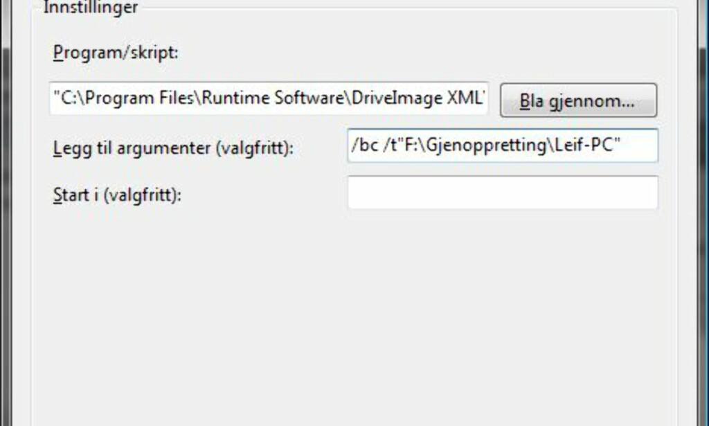 image: Kloning av harddisk - DriveImage XML