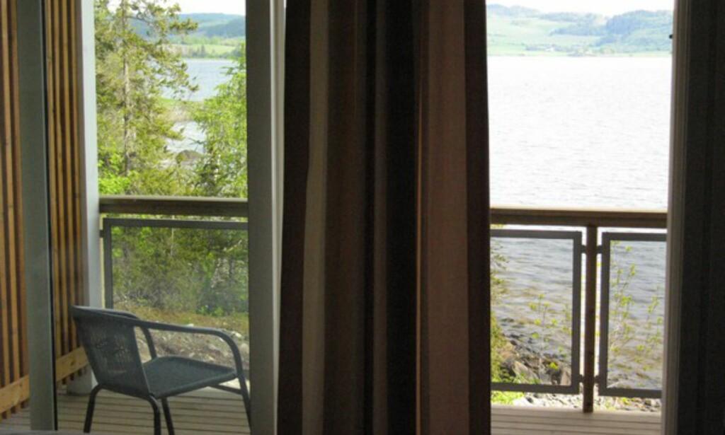 Utsikt fra hotellværelset mitt. Tror du jeg koser meg?