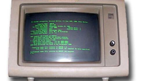 Den originale skjermen til IBM PC