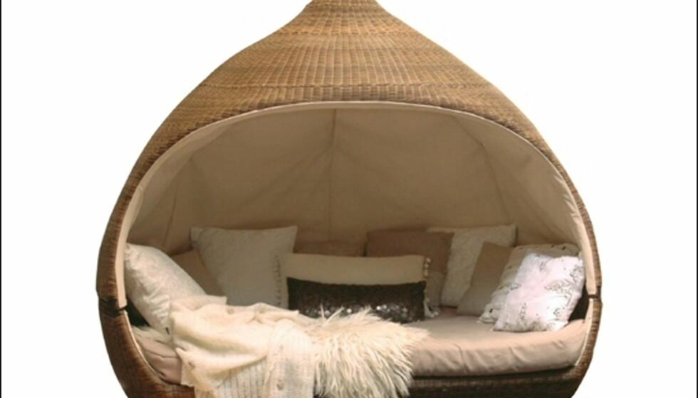 Romantisk daybed Nirvana fra norske TGI, koster i underkant av 30.000 kroner på Hus og Hage. <i>Foto: Produsenten</i>