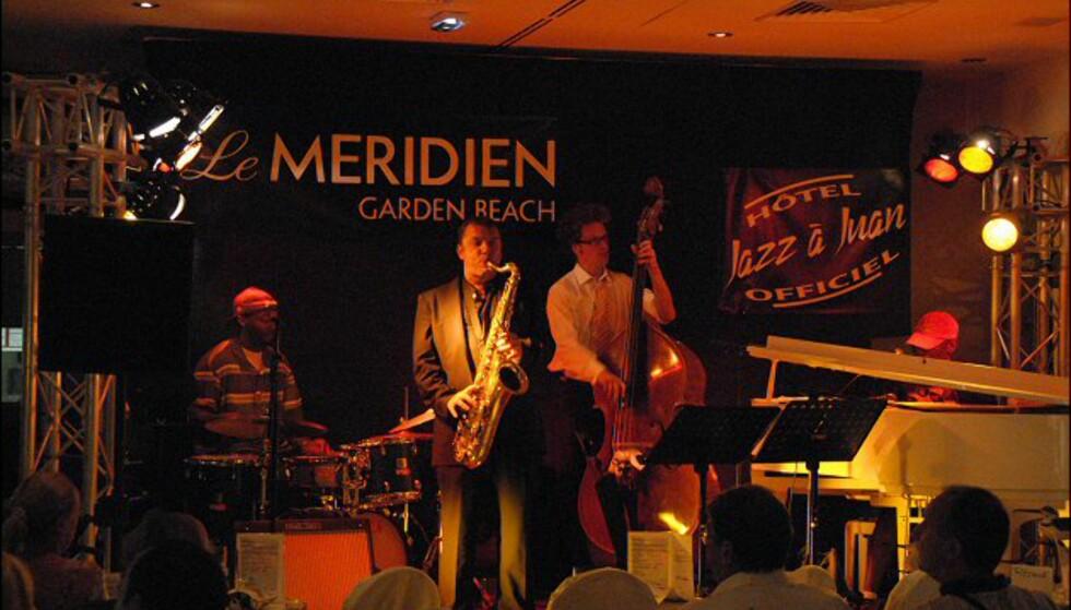 Om kvelden jazzes stemningen opp på de forskjellige jazzscenene under festivalen. Her fra en jamsession på Le Meridien. Foto: Brynjulf Blix