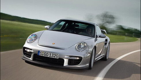 "Porsche 911 GT2 vant i ""performance""-klassen. Den har 530 hestekrefter."