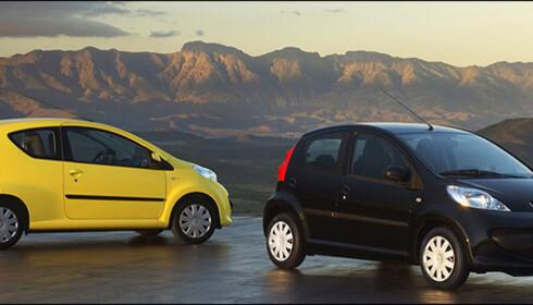 Peugeot 107 er en av bilene som har vinnermotoren på under 1,0 liter