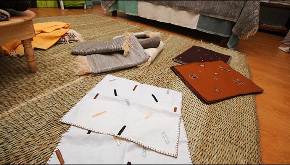 Tekstiler og duker er meget billig og av høy kvalitet i Marrakech. Her fra Florence Teillet.