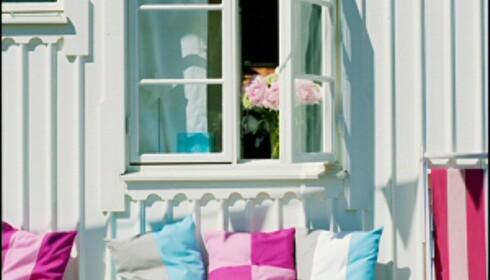 Beckers nye milijøvennlige vindusmaling skal være så hurtigtørkende at du kan lukke vinduet samme dag. Foto: Beckers