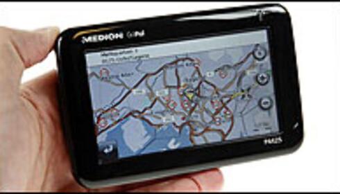 """//www.dingz.no/php/art.php?id=522379"""">Trykk her for å lese hele testen av Medion GoPal P4425 Foto: Per Ervland"""